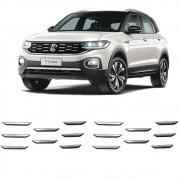 Aplique Adesivo Cromado Grade Dianteira Frontal Volkswagen Tcross T-Cross PCD 2019 Em Diante Encaixe Perfeito