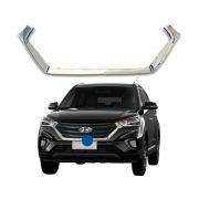 Aplique Cromado da Grade Dianteira Hyundai Creta 18 19 20 21 Encaixe Perfeito