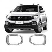 Aplique Cromado Farol de Milha Volkswagen T-Cross Tcross 2019 20 21