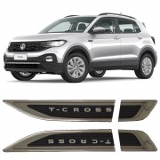 Aplique Tag Lateral Emblema Volkswagen T-Cross Tcross 2019 20 21