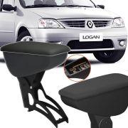 Apoio De Braço Central Com Porta Objetos Rebatível Renault Logan 2004 Até 2017