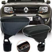 Apoio Descansa Braço Com Porta Objetos Rebatível Renault Oroch 2015 16 17 18 19