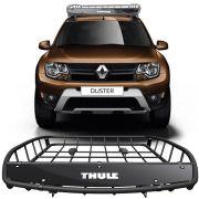 Bagageiro Gradeado Aberto Thule Canyon 859 Xt 68 Kg Renault Duster 2012 Até 2018