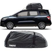 Bagageiro Maleiro de Teto Thule Chevrolet Spin 2014 a 2018 Ranger 90 Impermeável 280 Litros