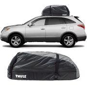 Bagageiro Maleiro de Teto Thule Hyundai Vera Cruz 2006 Até 2012 Ranger 90 Impermeável 280 Litros