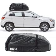 Bagageiro Maleiro de Teto Thule Mitsubishi Asx 2010 Até 2018 Ranger 90 Impermeável 280 Litros