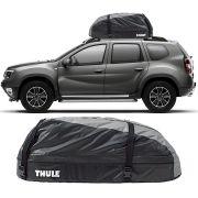 Bagageiro Maleiro de Teto Thule Renault Duster 2012 a 2018 Ranger 90 Impermeável 280 Litros