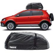 Bagageiro Maleiro de Teto Thule Volkswagen Crossfox 2003 Até 2018 Ranger 90 Impermeável 280 Litros