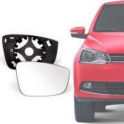 Base Espelho Retrovisor Volkswagen Gol Saveiro Voyage 2010 11 12 13 14 15 16 17 18 19 Up 2014 a 2019 Completo Acompanha Espelho