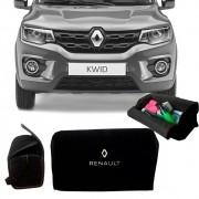Bolsa Organizadora Porta Mala Tevic Renault Kwid Com Velcro Fixador