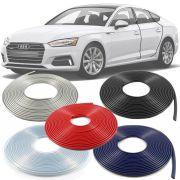 Borracha Protetor de Borda Audi A4 2011 12 13 14 15 16 17 18 19 - 10 Metros Fabricado em PVC Encaixe Autoadesivo