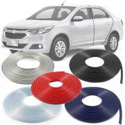 Borracha Protetor de Borda Chevrolet Cobalt 2012 3 14 15 16 17 18 19 - 10 Metros Fabricado em PVC Encaixe Autoadesivo