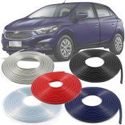 Borracha Protetor de Borda Chevrolet Onix 2013 14 15 16 17 18 19 - 10 Metros Fabricado em PVC Encaixe Autoadesivo