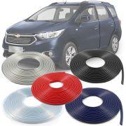 Borracha Protetor de Borda Chevrolet Spin 2013 14 15 16 17 18 19 - 10 Metros Fabricado em PVC Encaixe Autoadesivo