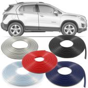 Borracha Protetor de Borda Chevrolet Tracker 2013 14 15 16 17 18 19 - 10 Metros Fabricado em PVC Encaixe Autoadesivo