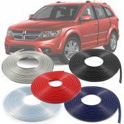 Borracha Protetor de Borda Dodge Journey 2007 08 09 10 11 12 - 10 Metros Fabricado em PVC Encaixe Autoadesivo
