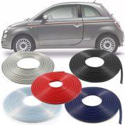 Borracha Protetor de Borda Fiat 500 2007 08 09 10 11 12 13 14 15 16 - 10 Metros Fabricado em PVC Encaixe Autoadesivo