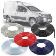 Borracha Protetor de Borda Fiat Fiorino 2014 15 16 17 18 19 - 10 Metros Fabricado em PVC Encaixe Autoadesivo
