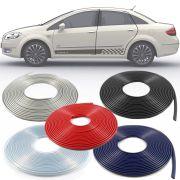 Borracha Protetor de Borda Fiat Linea 2009 10 11 12 13 14 15 16 - 10 Metros Fabricado em PVC Encaixe Autoadesivo