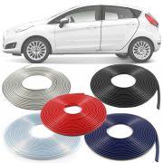 Borracha Protetor de Borda Ford Fiesta 2004 05 06 07 08 09 10 11 12 13 14 15 16 17 18 19 - 10 Metros Fabricado em PVC Encaixe Autoadesivo