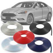 Borracha Protetor de Borda Ford Fusion 2006 07 08 09 10 11 12 13 14 15 16 17 18 19 - 10 Metros Fabricado em PVC Encaixe Autoadesivo