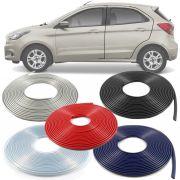 Borracha Protetor de Borda Ford Ka 2012 13 14 15 16 17 18 19 - 10 Metros Fabricado em PVC Encaixe Autoadesivo