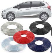 Borracha Protetor de Borda Honda Fit 2003 04 05 06 07 08 09 10 11 12 13 14 15 16 17 18 19 - 10 Metros Fabricado em PVC Encaixe Autoadesivo