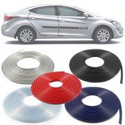 Borracha Protetor de Borda Hyundai Elantra 2011 12 13 14 15 16 - 10 Metros Fabricado em PVC Encaixe Autoadesivo