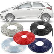 Borracha Protetor de Borda Hyundai Hb20 2012 13 14 15 16 17 18 19 10 Metros Fabricado em PVC Encaixe Autoadesivo