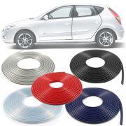 Borracha Protetor de Borda Hyundai I30 2009 10 11 12 13 14 15 16 17 - 10 Metros Fabricado em PVC Encaixe Autoadesivo