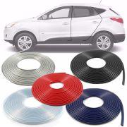 Borracha Protetor de Borda Hyundai Ix35 2010 11 12 13 14 15 16 17 18 19 - 10 Metros Fabricado em PVC Encaixe Autoadesivo