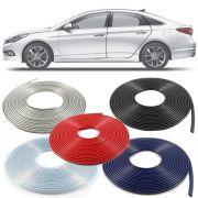 Borracha Protetor de Borda Hyundai Sonata 2011 12 13 14 - 10 Metros Fabricado em PVC Encaixe Autoadesivo