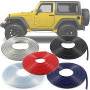 Borracha Protetor de Borda Jeep Wrangler  2007 08 09 10 11 12 13 14 15 16 17 18 19 - 10 Metros Fabricado em PVC Encaixe Autoadesivo