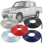 Borracha Protetor de Borda Mahindra Pickup 2010 11 12 13 14 - 10 Metros Fabricado em PVC Encaixe Autoadesivo