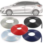 Borracha Protetor de Borda Toyota Yaris 2018 19 10 Metros Fabricado em PVC Encaixe Autoadesivo