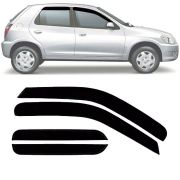 Calha de Chuva Esportiva Chevrolet Celta 2000 Até 2015 4 Portas Fumê Tg Poli
