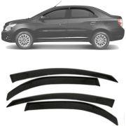 Calha de Chuva Esportiva Chevrolet Cobalt 2012 13 14 15 16 17 Fumê