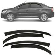 Calha de Chuva Esportiva Chevrolet Cobalt 2012 13 14 15 16 17 18 19 Fumê