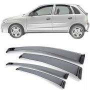 Calha de Chuva  Esportiva Chevrolet Corsa Hatch 2003 Até 2012