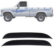 Calha de Chuva Esportiva Chevrolet D20 1985 Até 1997 Cabine Simples 2 Portas Fumê