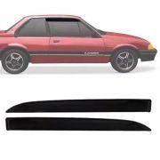 Calha de Chuva Esportiva Chevrolet Monza 1982 Até 1996 Tubarão 2 Portas Fumê