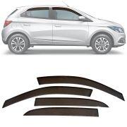 Calha de Chuva Esportiva Chevrolet Onix 2012 13 14 15 16 17 18 e Prisma 2013 14 15 16 17 18 Fumê