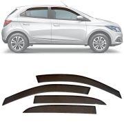 Calha de Chuva Esportiva Chevrolet Onix 2012 13 14 15 16 17 18 e Prisma 2013 14 15 16 17 18 Fumê Tg Poli