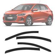Calha de Chuva Esportiva Chevrolet Onix 2020 Hatch Premier Em Diante Fumê 4 Portas