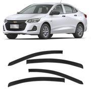 Calha de Chuva Esportiva Chevrolet Onix Plus 2020 Em Diante Fumê