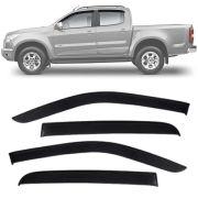 Calha de Chuva Esportiva Chevrolet S-10 S10 2012 13 14 15 16 17 18 Cabine Dupla Fumê