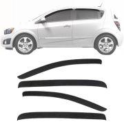 Calha de Chuva Esportiva Chevrolet Sonic Hatch 2011 12 13 14 Fumê Tg Poli