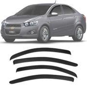 Calha de Chuva Esportiva Chevrolet Sonic Sedan 2011 12 13 14 15 Fumê