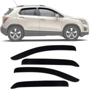Calha de Chuva Esportiva Chevrolet Tracker 2013 14 15 16 17 Fumê