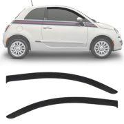 Calha de Chuva Esportiva Fiat 500 Cinquecento 2007 Até 2018 2 Portas Fumê